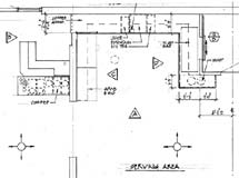 (Photo - Cafe renovation blueprints)