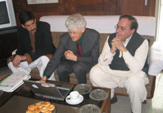 (Photo - Dr. Sohil Naqu, Les Cottrell, and Prof. Dr. Atta-Ur-Rahmani)