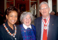 (Photo of Dick Taylor with his wife Rita and the Right Honorable Michaelle Jean