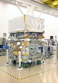 (Image - LAT with spacecraft)