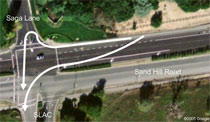 (Photo - aerial of Sand Hill Road)