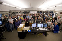 (Photo - Beam Operators in the MCC)