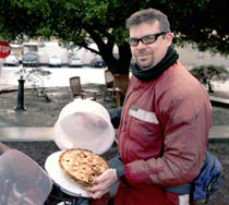 (Photo - Jim Defever with a pie)