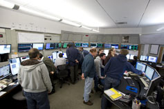 (Photo - the LCLS team in the control room)