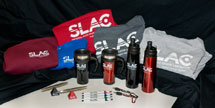 (Photo - new SLAC logo items)