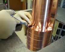 (Photo - LHC collimator test at SLAC)