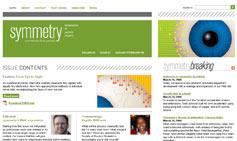 (Screen shot of symmetry magazine)