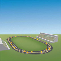(Image - particle racetrack)