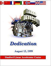 (Image - BaBar Detector dedication ceremony program cover)