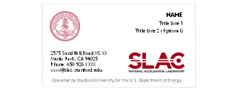 (Image - SLAC business card template)