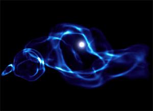 (Image - black hole simulation)