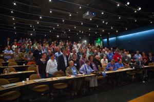 (Photo - Blandford symposium in Kavli Auditorium)