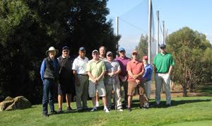 (Photo - the SLAC team, 2009 DOE Golf Challenge)
