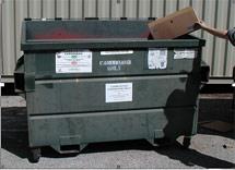 (Photo - trash dumpster)