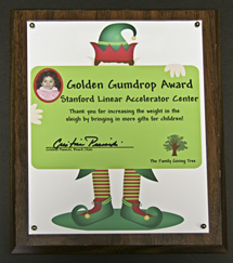 (Photo - Golden Gumdrop award)