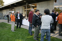 (Photo - MEC workshop participants enjoy an evening reception)
