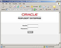(Image - PeopleSoft login screen)