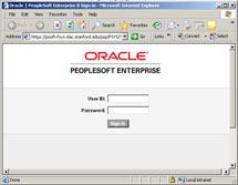 (Image - PeopleSoft login screen)