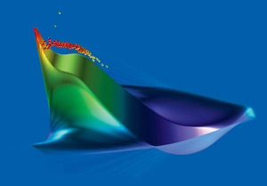 (Illustration - plasma acceleration simulation)