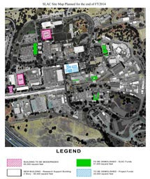 SLAC site map planned for the end of 2014
