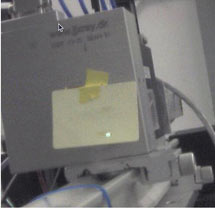 (Photo webcam image of first light at SSRL Beamline 14)