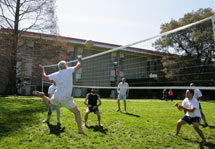 (Photo - volleyball on the SLAC Green March 10, 2009)