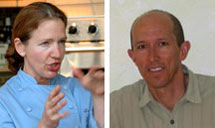 (Photo - Chef Laura Stec and meteorologist Eugene Cordero)
