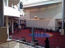 (Photo - APS 2010 convention hall lobby)