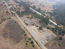 (Photo - aerial view of the SLAC Bone Yard)