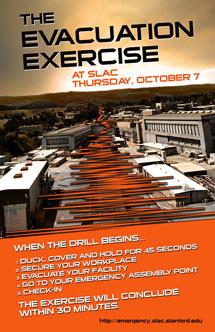(Poster - evacuation drill October 7, 2010)