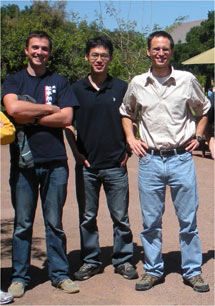 (Photo - James Analytis, Jiun-Haw Chu and Ian Fisher at Stanford )