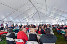 (Photo - holiday luncheon tent)