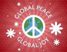 (Image - holiday party logo: Global Peace, Global Joy)