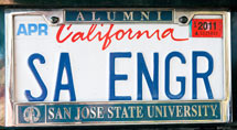 (Photo - license plate 'SA ENGR')