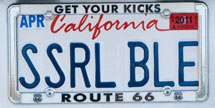 (Photo - license plate 'SSRL BLE')