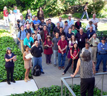 (Photo - Persis Drell addresses attendees at the PULSE ribbon cutting ceremony)