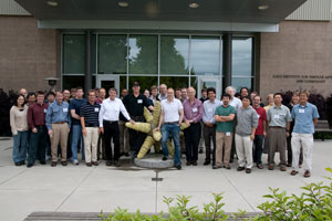 (Photo - SciDAC attendees at SLAC, May 2010)