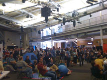 (Photo - SciFoo attendees gathered at Google headquarters)