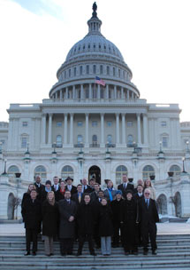 (Photo - user organization delegates at the capitol building in DC)