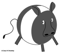 (Image - spherical cow. Copyright 2010 Gary W. Shockley.)