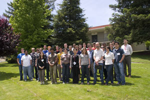 (Photo - SRXAS 2010 attendees at SLAC)