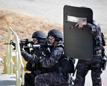 (Photo - SWAT drill at SLAC)