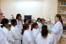 (Photo - fifth graders tour SLAC)