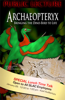 (Poster - lunchtime lecture - Archaeopteryx)