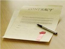(Photo - contract)