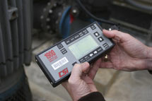 (Photo - vibration testing meter)