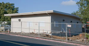 (Photo - the new SLAC Security building)
