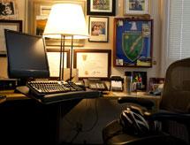 (Photo - Paul Golan's empty office chair)