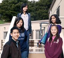 (Photo - visiting high school students at SSRL)